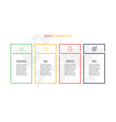 Business infographics presentation with 4 columns vector