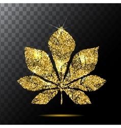 Chestnut leaf or red plate emblem logo vector