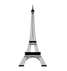eiffel tower on white vector image