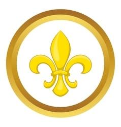 Fleur de lis icon vector