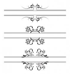 floral decoration banner vector image