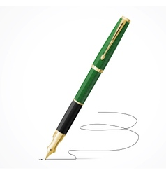Fountain pen isolated and signature vector image