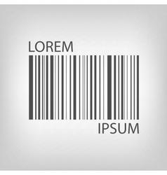 Grey barcode vector