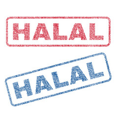 Halal textile stamps vector