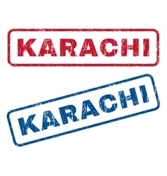 Karachi rubber stamps vector
