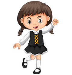 Little girl in black skirt vector