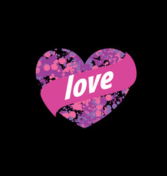 logo heart splash vector image vector image