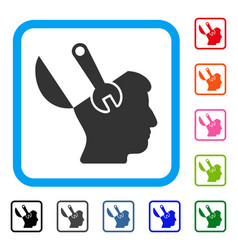 mind wrench surgery framed icon vector image vector image