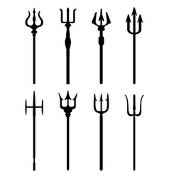 set of trident vector image vector image