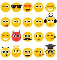Smiley faces set vector