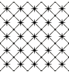 Star and square seamless pattern vector image vector image
