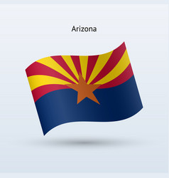 State of arizona flag waving form vector