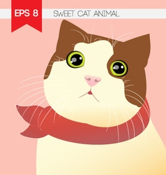 Sweet cat animal vector
