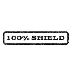 100 percent shield watermark stamp vector