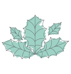 Holly berry leaves vector