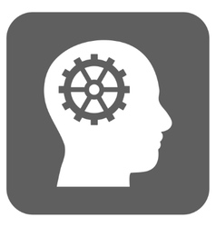 Intellect flat squared icon vector