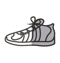 Isolated running shoes design vector