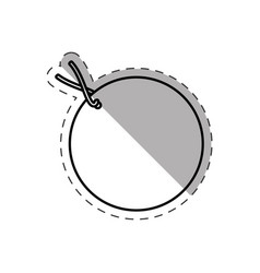 Round tag price discount cut line vector