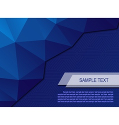 Abstract background with triangular polygons eps10 vector