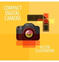 Photo camera logo design template digital vector