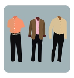 Male business suit vector