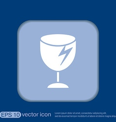 Fragile glass symbol logistics icon vector