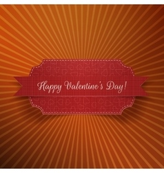 Valentines day realistic red greeting banner vector