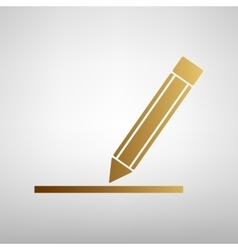 Pencil sign flat style icon vector