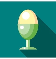 Stand with egg icon flat style vector