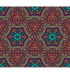 Abstract festive colorful grunge ethnic pattern vector