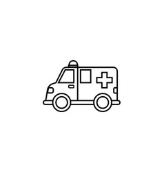 Ambulance car line icon healtcare sign vector