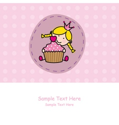 baby girl with a muffin vector image vector image