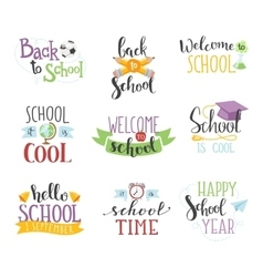 Back to school text set vector