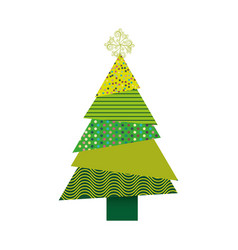 Colorful background of abstract christmas tree vector