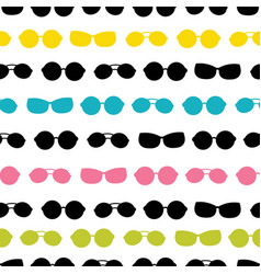 Colorful sunglasses stripes summer vacation vector