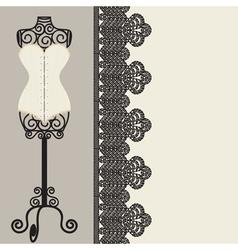corset vector image vector image