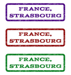 France strasbourg watermark stamp vector