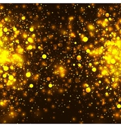 gold glowing light glitter background vector image vector image