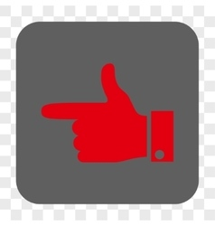 Hand pointer left rounded square button vector