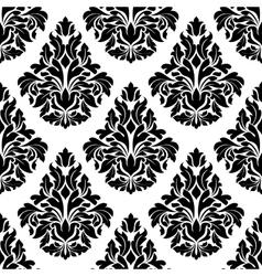 Intricate black and white arabesque design vector