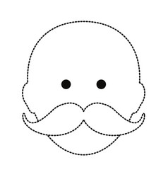 man with mustache design vector image