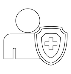Medical insurance concept icon outline style vector