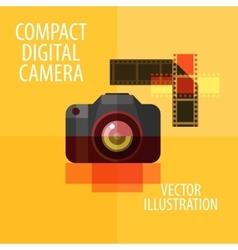 photo camera logo design template digital vector image