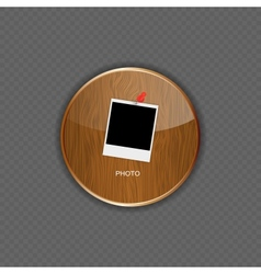 Photo wood application icons vector image