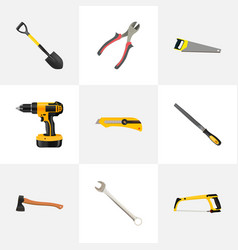 realistic spanner electric screwdriver vector image vector image