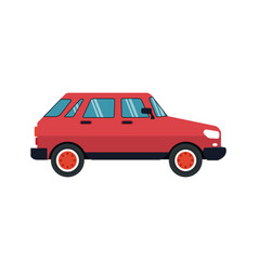 red car icon vector image vector image