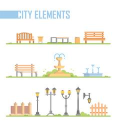 Set of city elements - modern cartoon vector