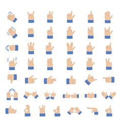 Set of hand emoticon vector