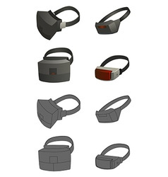 Set of virtual reality devices concepts vector