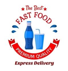 Soda drinks symbol for fast food cafe design vector